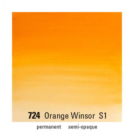 WINSOR&NEWTON AQUARELLE 1/2 GODET S1 724 ORANGE WINOR