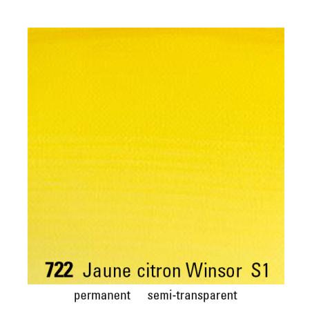 WINSOR&NEWTON AQUARELLE 1/2 GODET S1 722 JAUNE CITRON WINSOR
