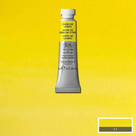 WINSOR&NEWTON AQUARELLE 5ML S2 348 JAUNE CITRON FONCE
