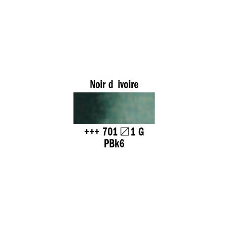 REMBRANDT AQUARELLE 1/2 GODET S1 701 NOIR IVOIRE