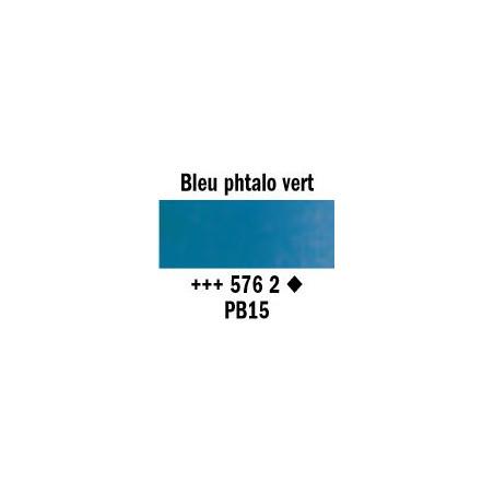 REMBRANDT AQUARELLE 1/2 GODET S2 576 BLEU PHTALO VERT