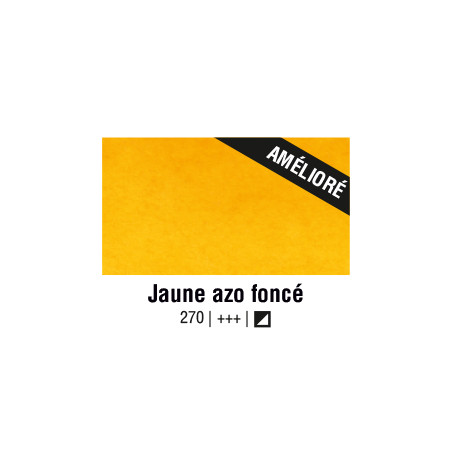 VAN GOGH AQUARELLE JAUNE AZO FONCE 1/2GODET