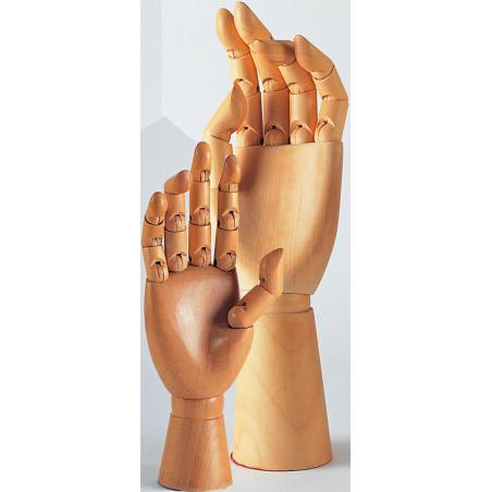 Main articulée en bois