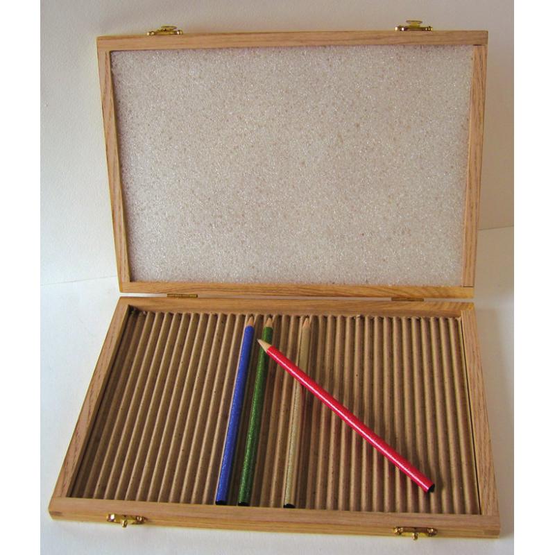 Coffret vide en bois pour crayons