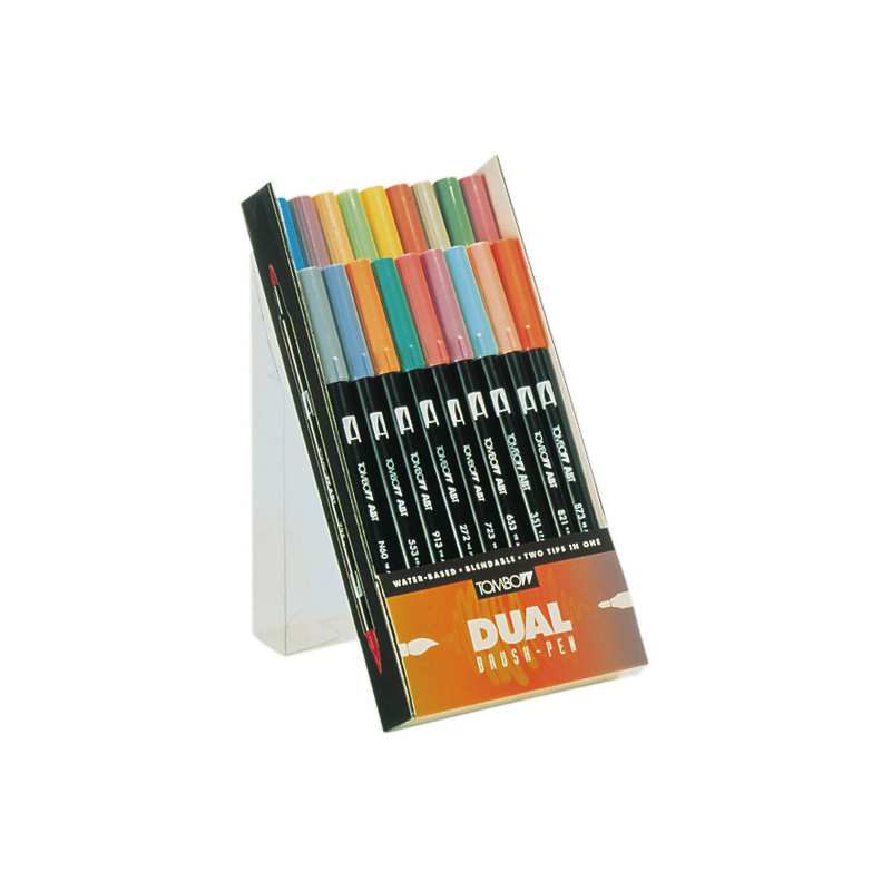 SET TOMBOW 18 BRUSH  COULEURS DE BASE GAMME ELARGIE