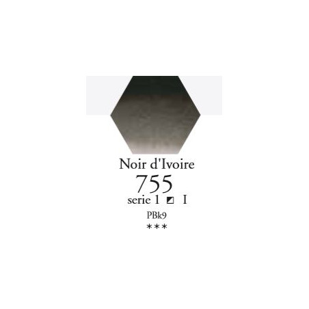 SENNELIER AQUA EXTRA FINE TUBE 21ML S1 755 NOIR D'IVOIRE