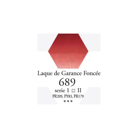 SENNELIER AQUA EXTRA FINE TUBE 21ML S1 689 LAQUE DE GARANCE FONCÉE