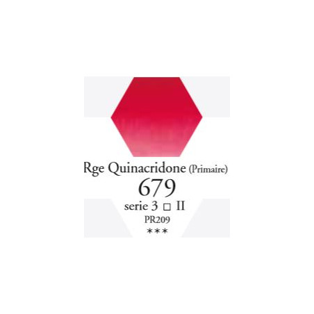 SENNELIER AQUA EXTRA FINE TUBE 21ML S3 679 ROUGE DE QUINACRIDONE (PRI