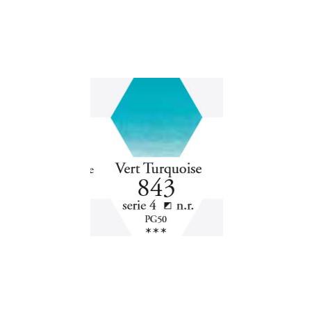 SENNELIER AQUA EXTRA FINE 1/2 GODET S4 843  VERT TURQUOISE