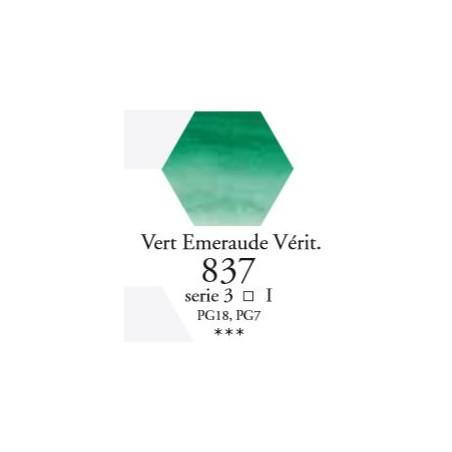 SENNELIER AQUA EXTRA FINE 1/2 GODET S3 837  VERT EMERAUDE VÉRIT.