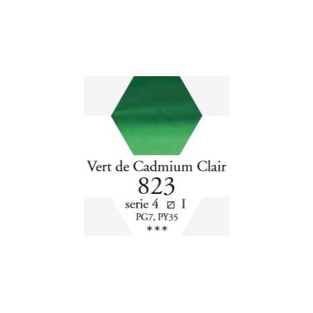 SENNELIER AQUA EXTRA FINE 1/2 GODET S4 823  VERT DE CADMIUM CLAIR