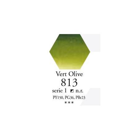 SENNELIER AQUA EXTRA FINE 1/2 GODET S1 813  VERT OLIVE