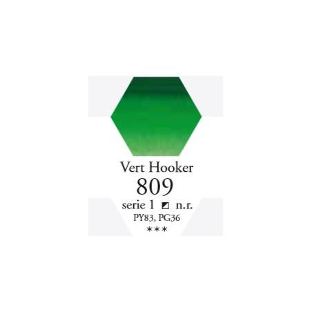 SENNELIER AQUA EXTRA FINE 1/2 GODET S1 809  VERT HOOKER