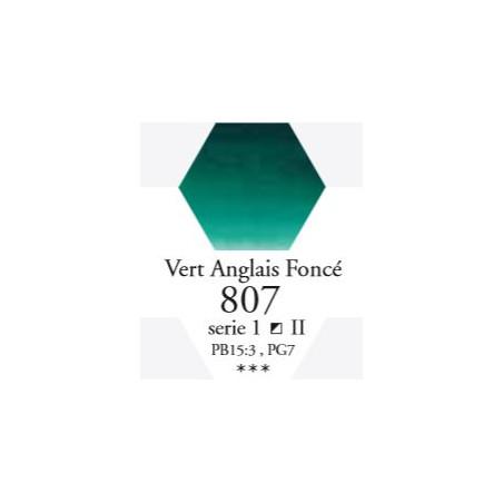 SENNELIER AQUA EXTRA FINE 1/2 GODET S1 807  VERT ANGLAIS FONCÉ