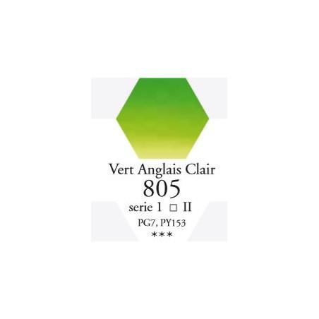 SENNELIER AQUA EXTRA FINE 1/2 GODET S1 805  VERT ANGLAIS CLAIR