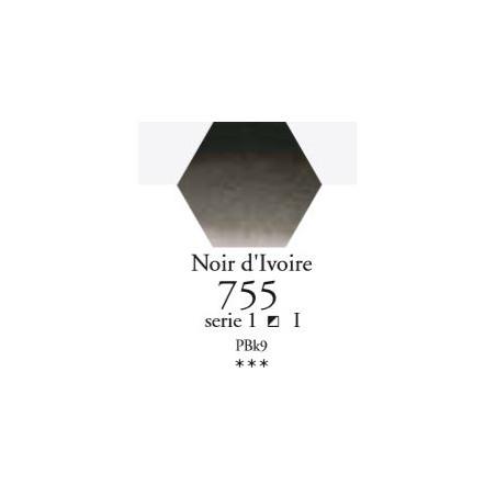 SENNELIER AQUA EXTRA FINE 1/2 GODET S1 755  NOIR D'IVOIRE
