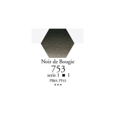 SENNELIER AQUA EXTRA FINE 1/2 GODET S1 753  NOIR DE BOUGIE