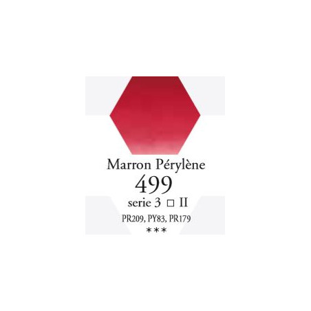 SENNELIER AQUA EXTRA FINE TUBE 21ML S3 499 MARRON PÉRYLÈNE