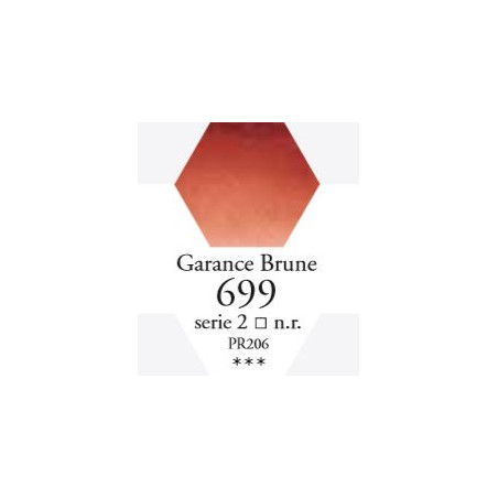 SENNELIER AQUA EXTRA FINE 1/2 GODET S2 699  GARANCE BRUNE