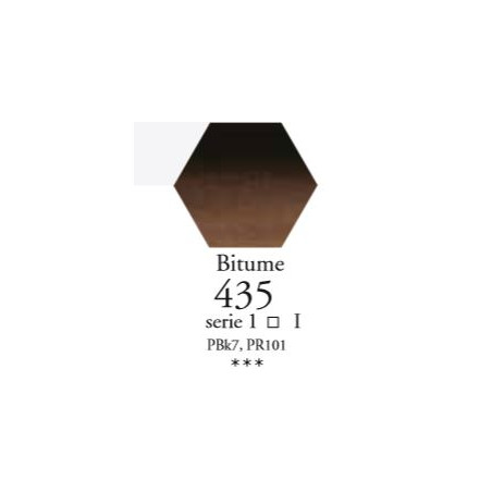 SENNELIER AQUA EXTRA FINE TUBE 21ML S1 435 BITUME