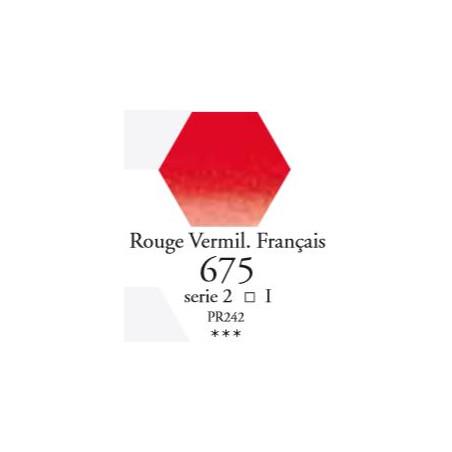 SENNELIER AQUA EXTRA FINE 1/2 GODET S2 675  ROUGE VERMIL. FRANÇAIS