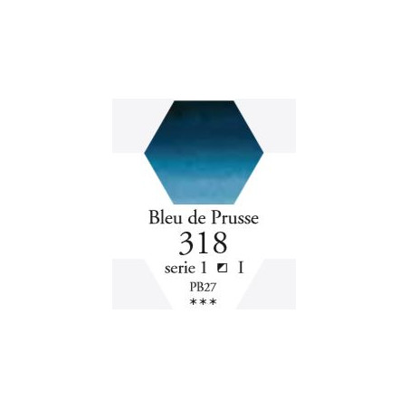 SENNELIER AQUA EXTRA FINE TUBE 21ML S1 318 BLEU DE PRUSSE