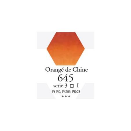 SENNELIER AQUA EXTRA FINE 1/2 GODET S3 645  ORANGÉ DE CHINE