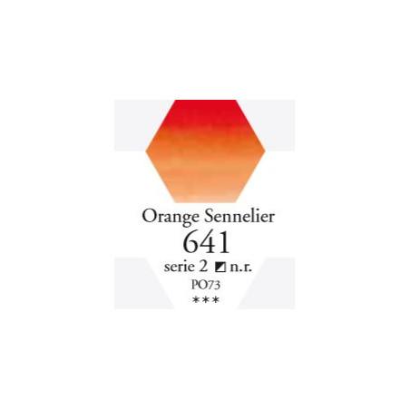 SENNELIER AQUA EXTRA FINE 1/2 GODET S2 641  ORANGE SENNELIER