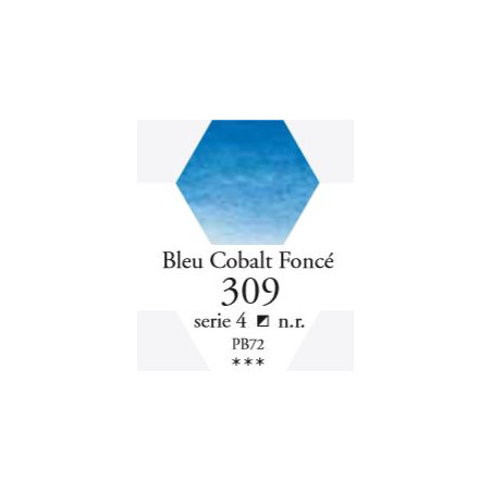 SENNELIER AQUA EXTRA FINE TUBE 21ML S4 309 BLEU DE COBALT FONCÉ