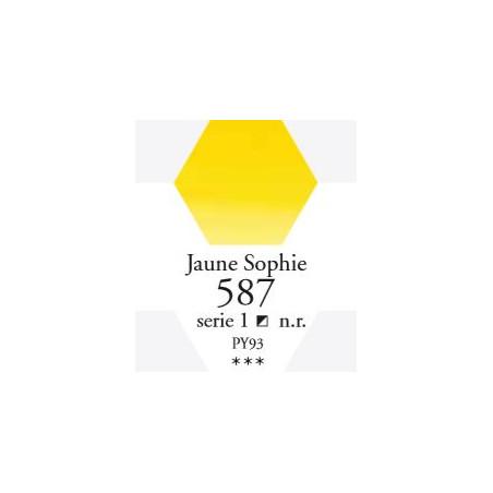 SENNELIER AQUA EXTRA FINE 1/2 GODET S1 587  JAUNE SOPHIE