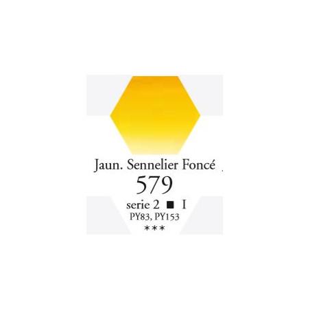 SENNELIER AQUA EXTRA FINE 1/2 GODET S1 579  JAUNE SENNELIER FONCÉ