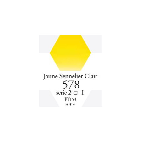 SENNELIER AQUA EXTRA FINE 1/2 GODET S1 578  JAUNE SENNELIER CLAIR