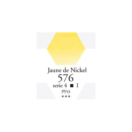 SENNELIER AQUA EXTRA FINE 1/2 GODET S4 576  JAUNE DE NICKEL