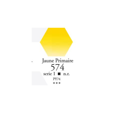 SENNELIER AQUA EXTRA FINE 1/2 GODET S1 574  JAUNE PRIMAIRE
