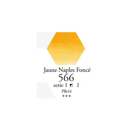 SENNELIER AQUA EXTRA FINE 1/2 GODET S1 566  JAUNE DE NAPLES FONCÉ