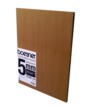 Lot de 4 cartons mousse Airplac 3 mm ou 5 mm