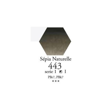 SENNELIER AQUA EXTRA FINE 1/2 GODET S1 443  SÉPIA NATURELLE