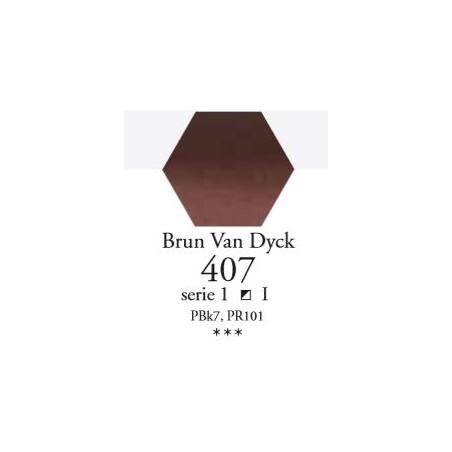 SENNELIER AQUA EXTRA FINE 1/2 GODET S1 407  BRUN VAN DYCK