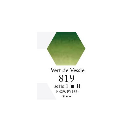 SENNELIER AQUA EXTRA FINE TUBE 10ML S1 819 VERT DE VESSIE