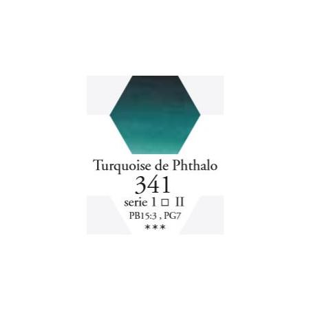 SENNELIER AQUA EXTRA FINE 1/2 GODET S2 341  TURQUOISE DE PHTHALO