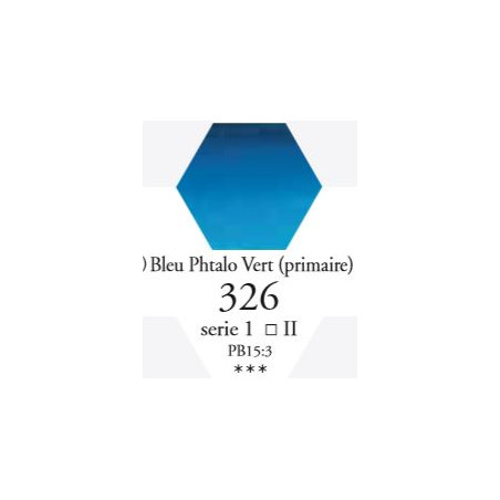 SENNELIER AQUA EXTRA FINE 1/2 GODET S1 326  BLEU DE PHTALO VERT (PRIM