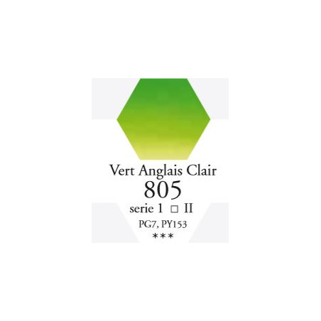 SENNELIER AQUA EXTRA FINE TUBE 10ML S1 805 VERT ANGLAIS CLAIR