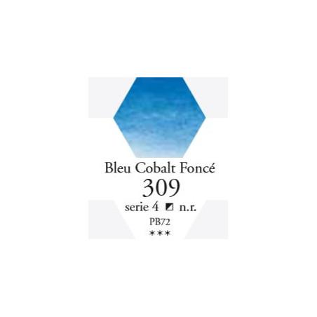 SENNELIER AQUA EXTRA FINE 1/2 GODET S4 309  BLEU DE COBALT FONCÉ