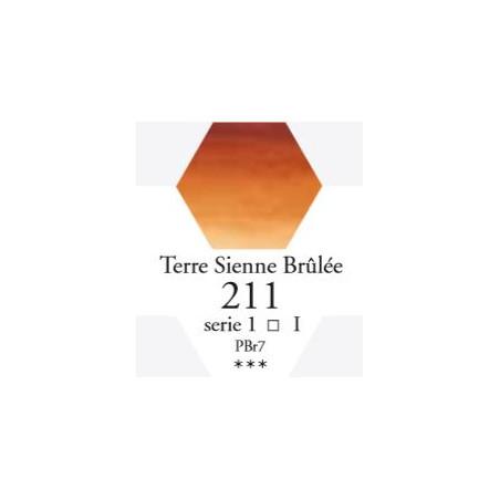 SENNELIER AQUA EXTRA FINE 1/2 GODET S1 211  TERRE SIENNE BRÛLÉE