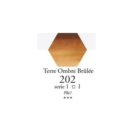 SENNELIER AQUA EXTRA FINE 1/2 GODET S1 202  TERRE D'OMBRE BRÛLÉE