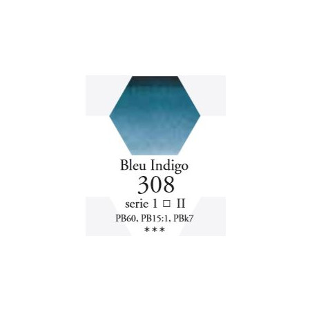 SENNELIER AQUA EXTRA FINE TUBE 10ML S1 308 BLEU INDIGO