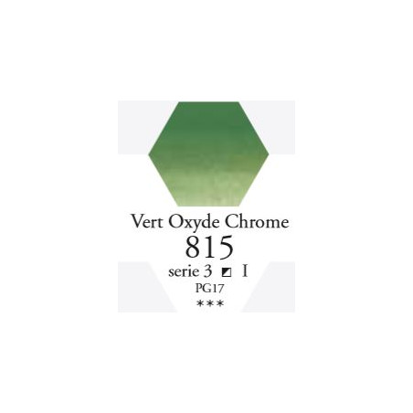 SENNELIER AQUA EXTRA FINE TUBE 21ML S3 815 VERT OXYDE CHROME