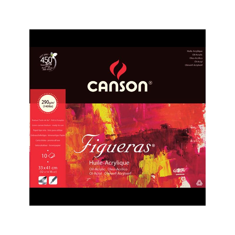 Papier grain toilé 290 g/m² Figueras de Canson