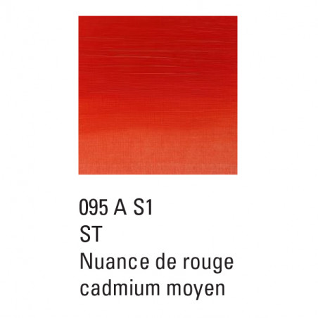 WINSOR ET NEWTON GRIFFIN ALKYDE 37ML S1 095  IMIT ROUGE CAD MOY