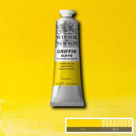 WINSOR ET NEWTON GRIFFIN ALKYDE 37ML S1 119 IMIT.JAUNE CAD CLAIR